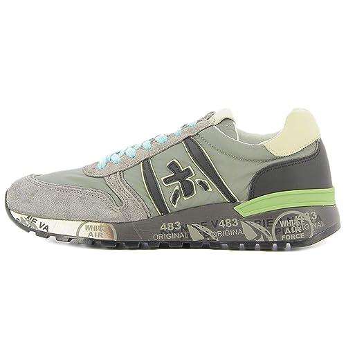 PREMIATA Sneaker Grigia Lander 3245  Amazon.it  Scarpe e borse 4739c739de6