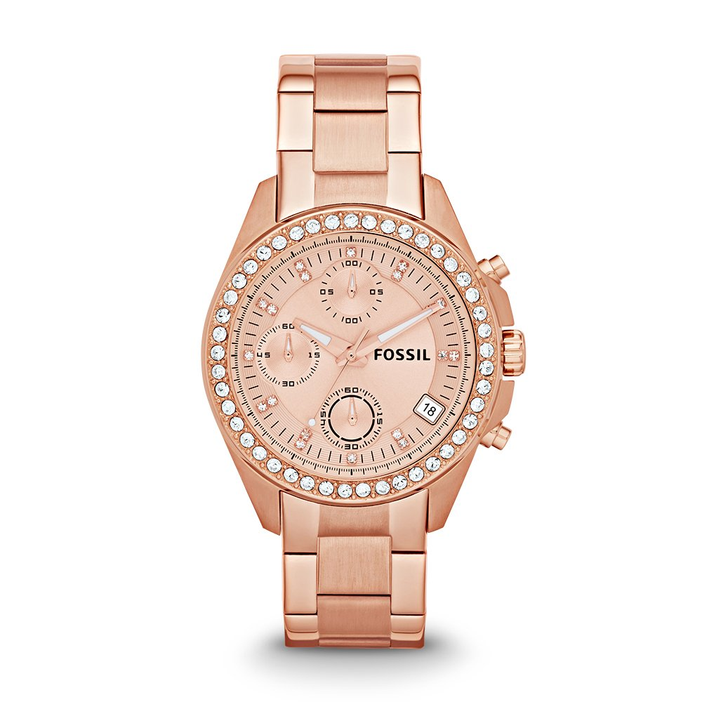 Fossil Women's ES3352 Decker Chronograph Rose Gold-Tone Stainless Steel Watch