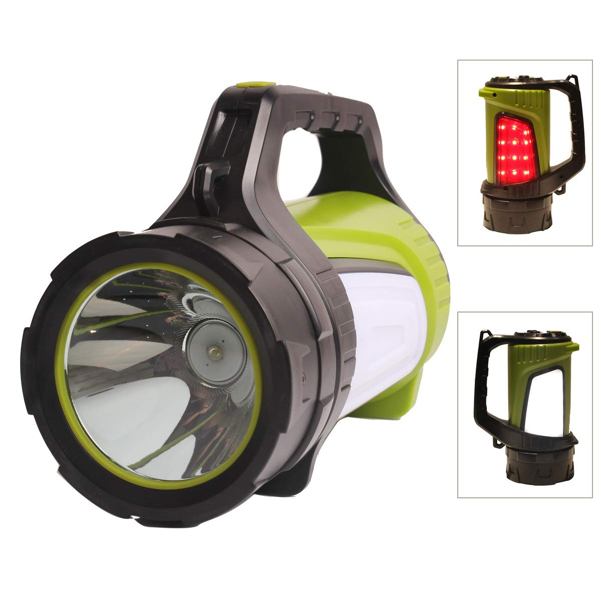 JL Home 1200lm Super Bright LED Camping Lantern Flashlight, Rechargeable, 4500mAh Power Bank, Multifunction Spotlight for Summer Camp, Outdoor Searching, Night Working, Emergency Power Outages