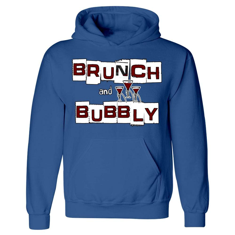 Sparkling Wine Grapes Toast Humor Hoodie Brunch and Bubbly Stuch Strength Funny Champagne