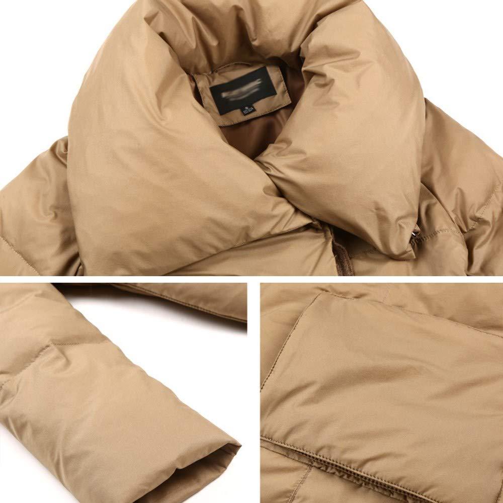 AI CHEN Veste en Duvet d'automne et d'hiver en Genou Ample pour Femmes, Manteau Long en Polyester avec du Duvet de Canard Blanc Chaud et Confortable 91% -95% M