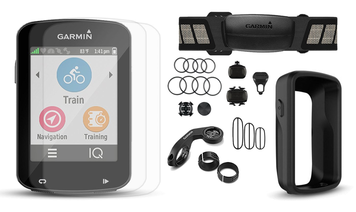 Garmin Edge 820 CYCLE BUNDLE with Garmin Chest Strap HRM, Cadence & Speed Sensors, PlayBetter Portable USB Charger & Hard Carrying Case, Bike Mounts, USB Cable | Touchscreen Display, GPS Bike Computer by PlayBetter
