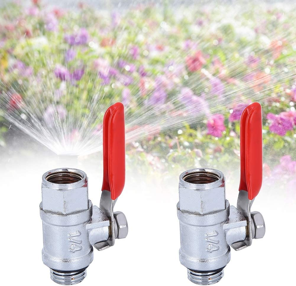 Piping System Fdit G3//8in Stainless Steel Ball Valve,Water Valve Shut Off Device Sprayer Accessories with Red Handle for Irrigation System