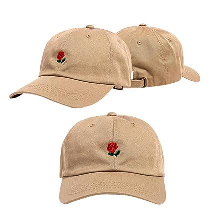 7d50bd8f68ea6 Amazon.com: Litetao Men Women Caps, Baseball Caps, Embroidery Rose ...