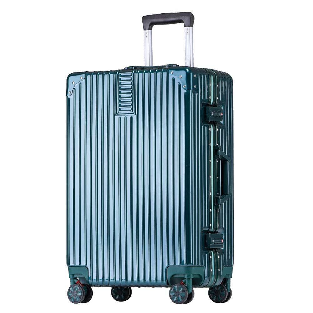 XY トロリーケース - ABS/PC、内蔵パスワードロック、快適なハンドル、スタイリッシュで小さくて鮮やかなアルミフレームキャスター学生大容量スーツケース - 5色、2サイズ利用可能 トランク (色 : ダークグリーン だ゜くぐり゜ん, サイズ さいず : 36.5*23.5*50.5cm) 36.5*23.5*50.5cm ダークグリーン だ゜くぐり゜ん B07R8HVNK6