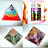 Jet Exquisite Three (3) Chakra Rainbow Layer Green Mica Amethyst Orgone Pyramid 1 each Best Offer Free Booklet Jet International Crystal Therapy Crystal Gemstones Copper Metal