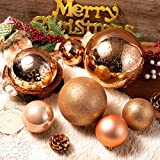 Christmas Ball Ornaments Champagne Gold Giant