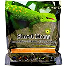 Galapagos (05248 Sheets of Real Moss, 8-Quart, Natural