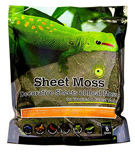 eets of Real Moss, 8-Quart, Natural (Cypress Reptile Bedding)