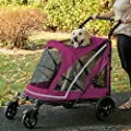 NO-Zip Stroller, Push Button Zipperless Dual Entry, for Single or Multiple Dogs/Cats by Pet Gear