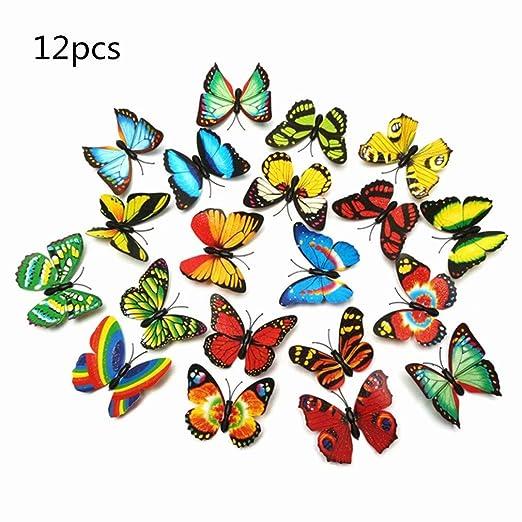 OPEN BUY 12 Piezas Colores Variados 3D Mariposa Imanes de ...