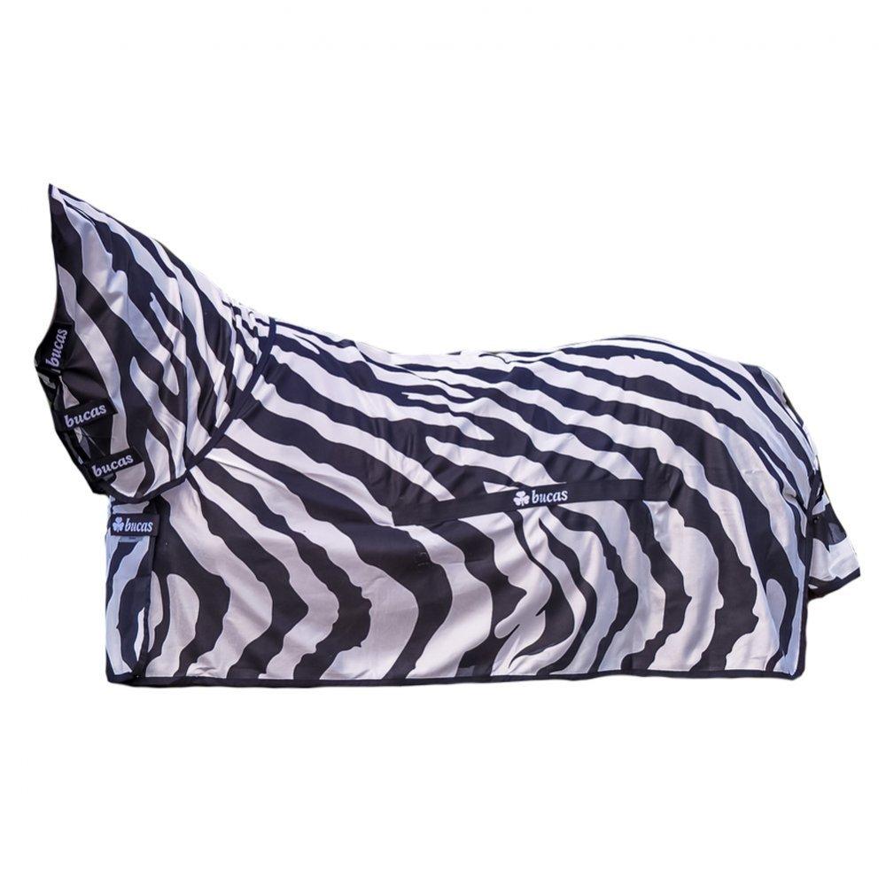 Black White 6-6\ Black White 6-6\ Bucas Buzz-Off Zebra Full Neck Fly Rug