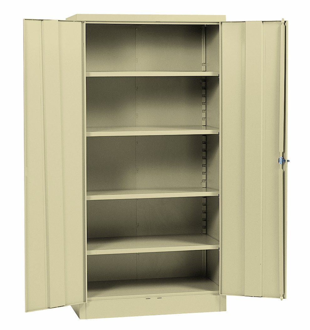 Sandusky Lee RTA7000-07 Putty Steel SnapIt Storage Cabinet, 5 Adjustable Shelves, Powder Coat Finish, 72'' Height x 36'' Width x 18'' Depth