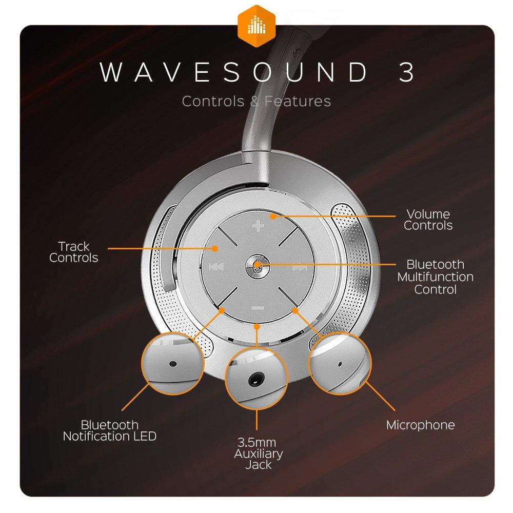 WaveSound 3 Auriculares inalámbricos con cancelación de Ruido: Amazon.es: Electrónica