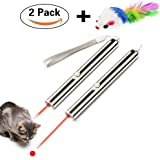 TOPOPETOY Cat Toys for Training and Exercise, 2 in 1 Function LED Flashlight and Red Light Pointer(2 pack)-1