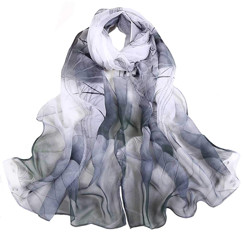 Scarfs for Women Lightweight Print Floral Pattern Scarf Shawl Fashion Scarves Sunscreen Shawls