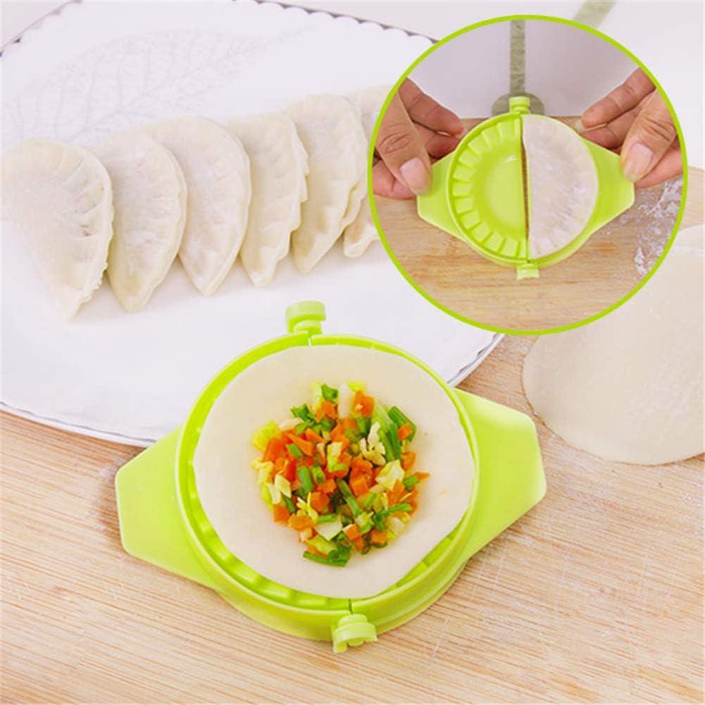 LEAMALLS 3 Pi/èces boulette Pie Ravioli Maker Moule P/âtisserie Wrapper D/écoupe Accessoires de Cuisine Ustensiles