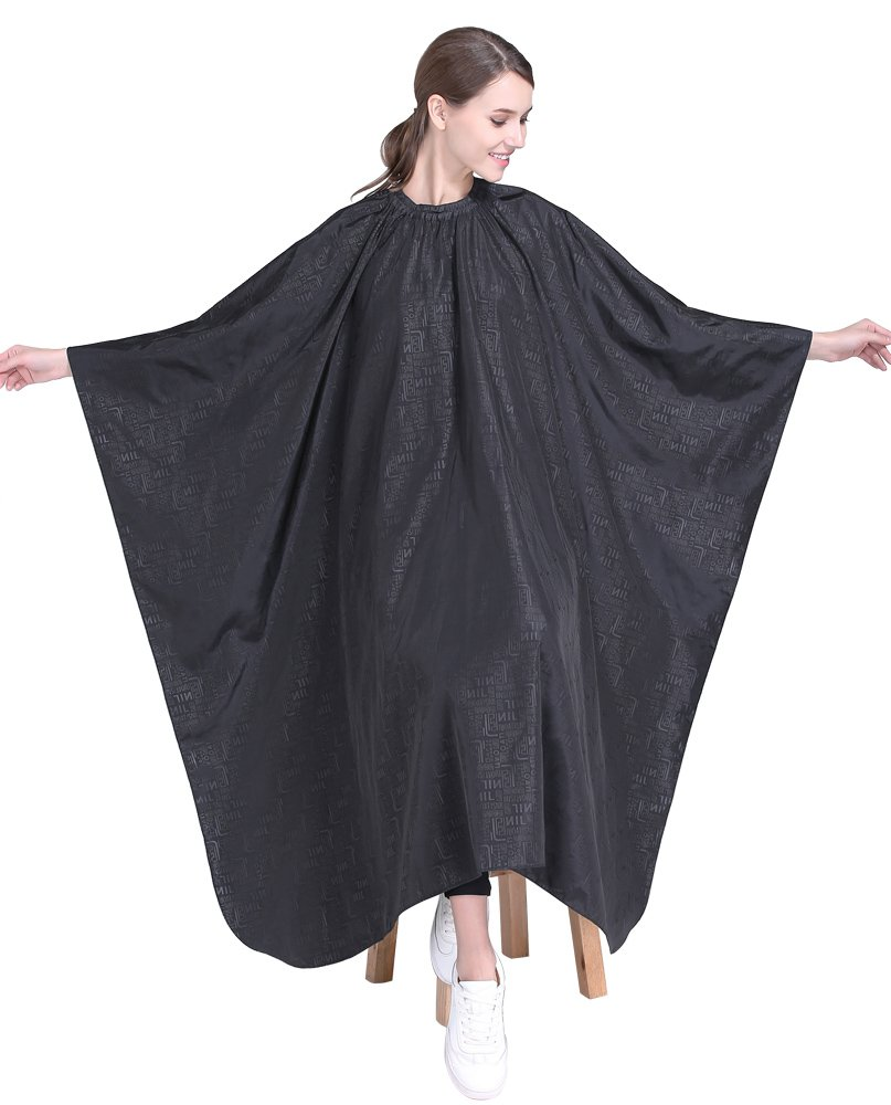 Barber Salon Hair Cutting Cape,Professional Hair Styling Smock ,Black