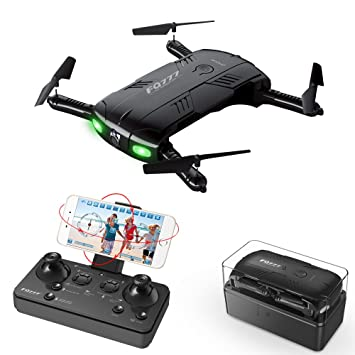 RC Quadcopter Drone With 2 Batteries 20MP Camera Live Video Foldable Arms Pocket Mini