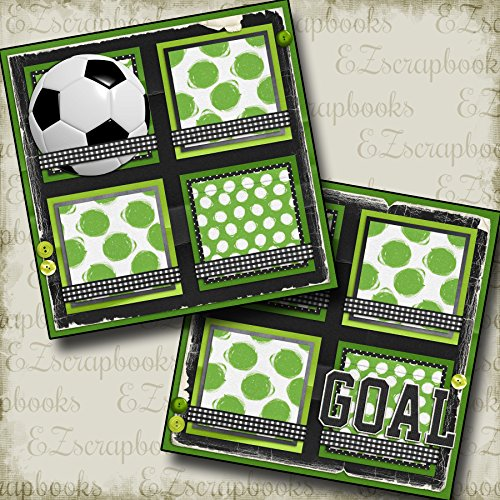 SOCCER GOAL - Premade Scrapbook Pages - EZ Layout (Soccer Scrapbook Page)