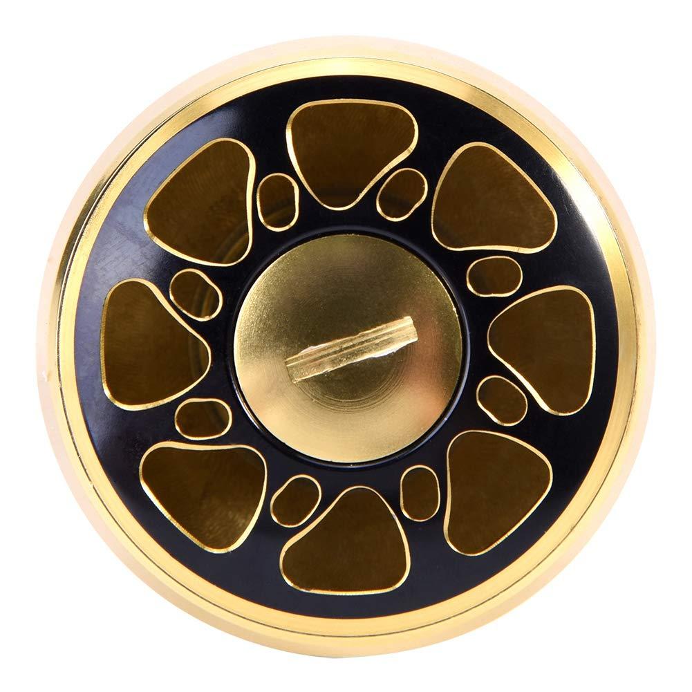 Black+Gold Alomejor Pomo de Mango de Pesca pomo de Metal de Repuesto con 2 rodamientos de Bolas Accesorio de Pesca