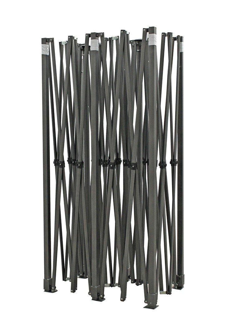 in materiale resistente Qualit/à superiore completamente impermeabile Nero Gazebo pieghevole da 3m x 6m rivestimento in PVC 4 sacchetti di sabbia per il contrappeso da applicare ai piedi