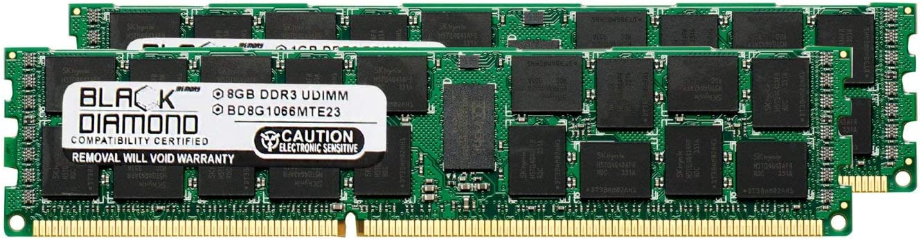 16GB 2X8GB Memory RAM for HP ProLiant Series DL380 G6 High Efficiency DDR3 ECC Registered RDIMM 240pin PC3-8500 1066MHz Black Diamond Memory Module Upgrade