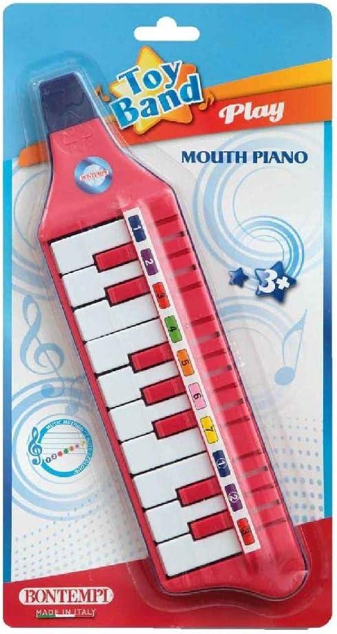 Bontempi 33 1012 10 Keys Mouthpiano in Blister Multi-Color