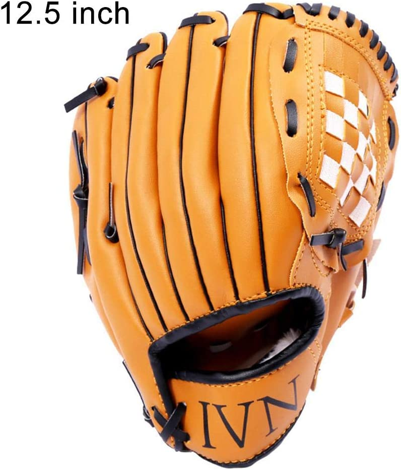 Sports Batting Gloves Catchers Mitt with PU Leather Baseball 10.5 inch 11.5 inch 12.5 inch for Adult Youth Kids Riosupply Baseball Glove