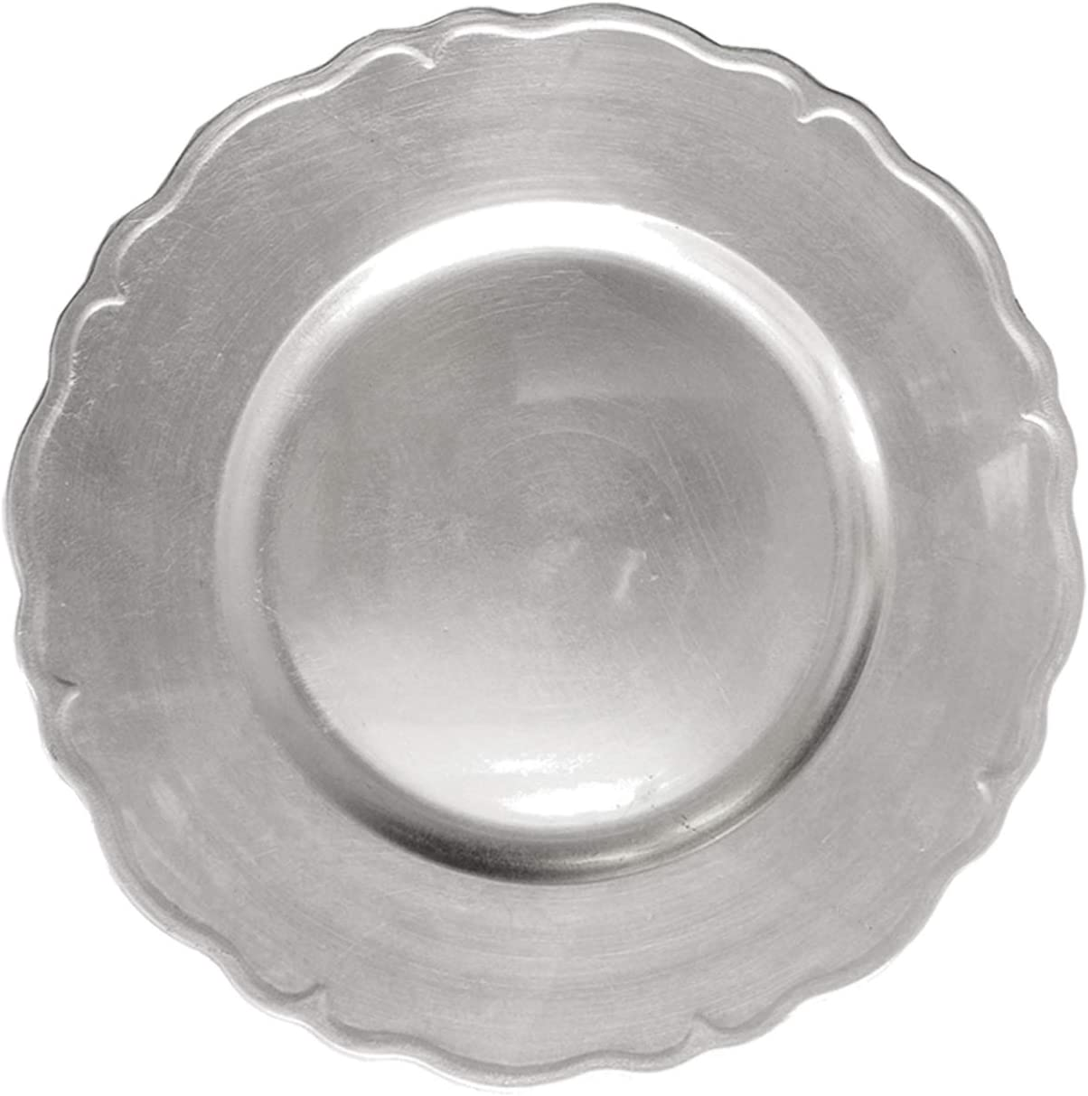 ChargeIt by Jay A215GR Round Regency Charger Plate Jay Imports