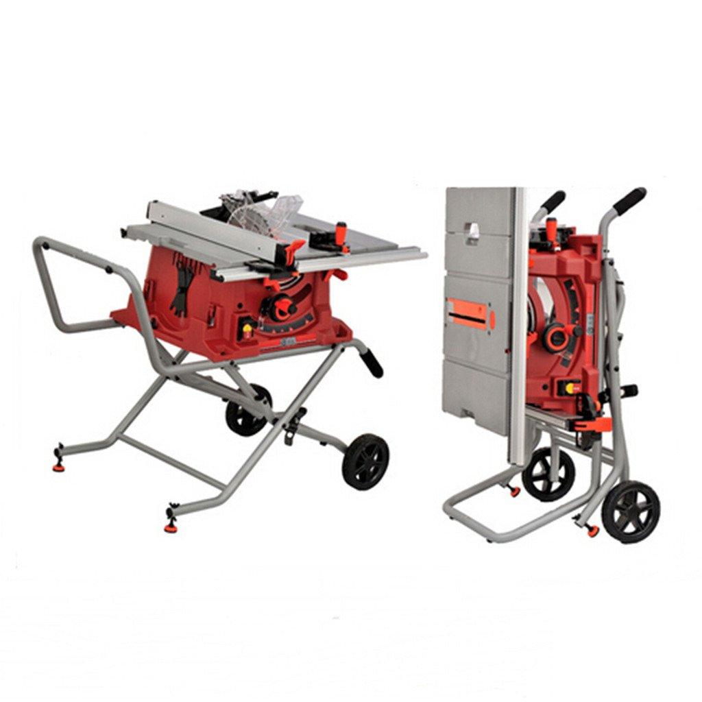 Wotefusi Industrial New 110V 1800W 10 inch Blade Woodwork Bench Top Saw Sawing Cutting Cutter Tool Machine Portable Table Folding Stand