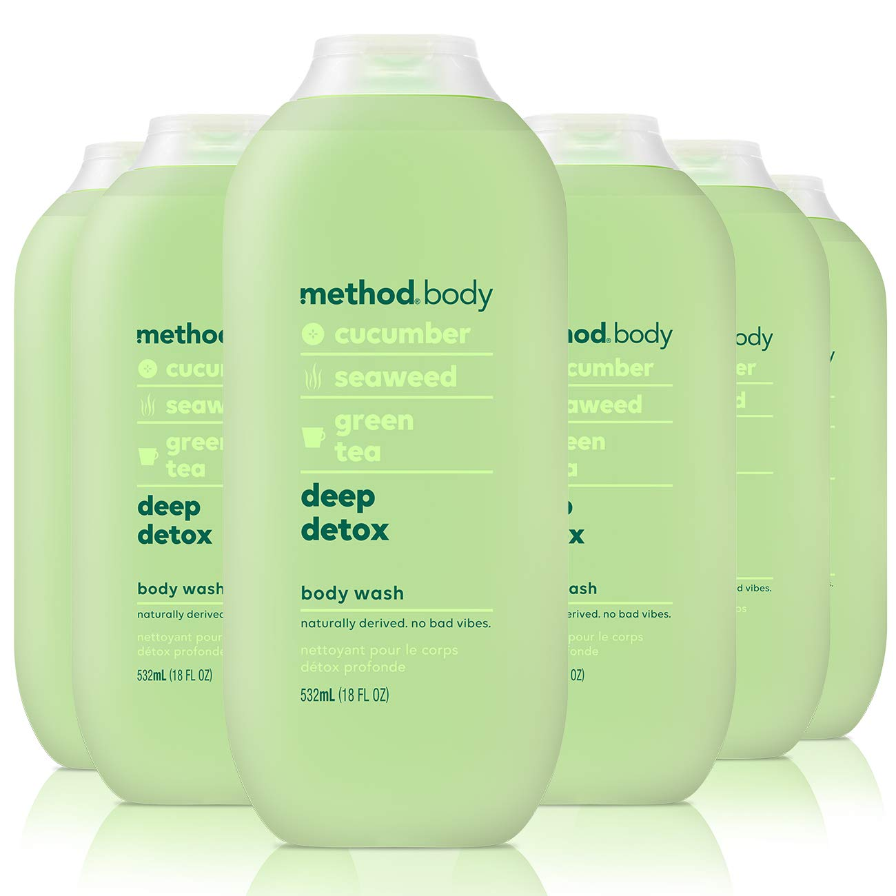 Amazon Com Method Body Wash Deep Detox 18 Fluid Ounce Pack Of 6 Beauty