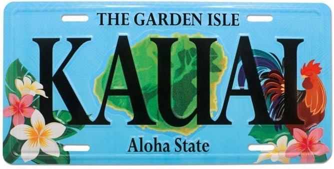 Rooster Kauai Souvenir License Plate