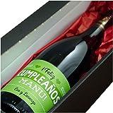 Regalo de cumpleaños para hombre personalizable: botella de vino personalizada con vuestros nombres