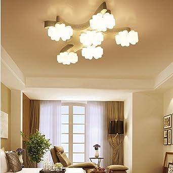 Blumen Deckenleuchte,Modern LED Deckenlampe,Acryl Decken leuchte ...