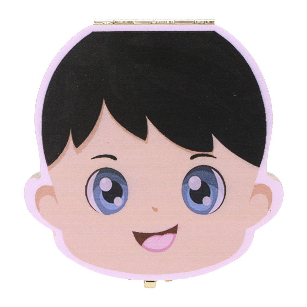 GGG 1pc Couleur Mignon Imprimé Boîte des Dents Organisateur pour Bébé Dents de Lait Boîte de Rangement Cadeaux 3-6 ANS pour Enfant - Garçon