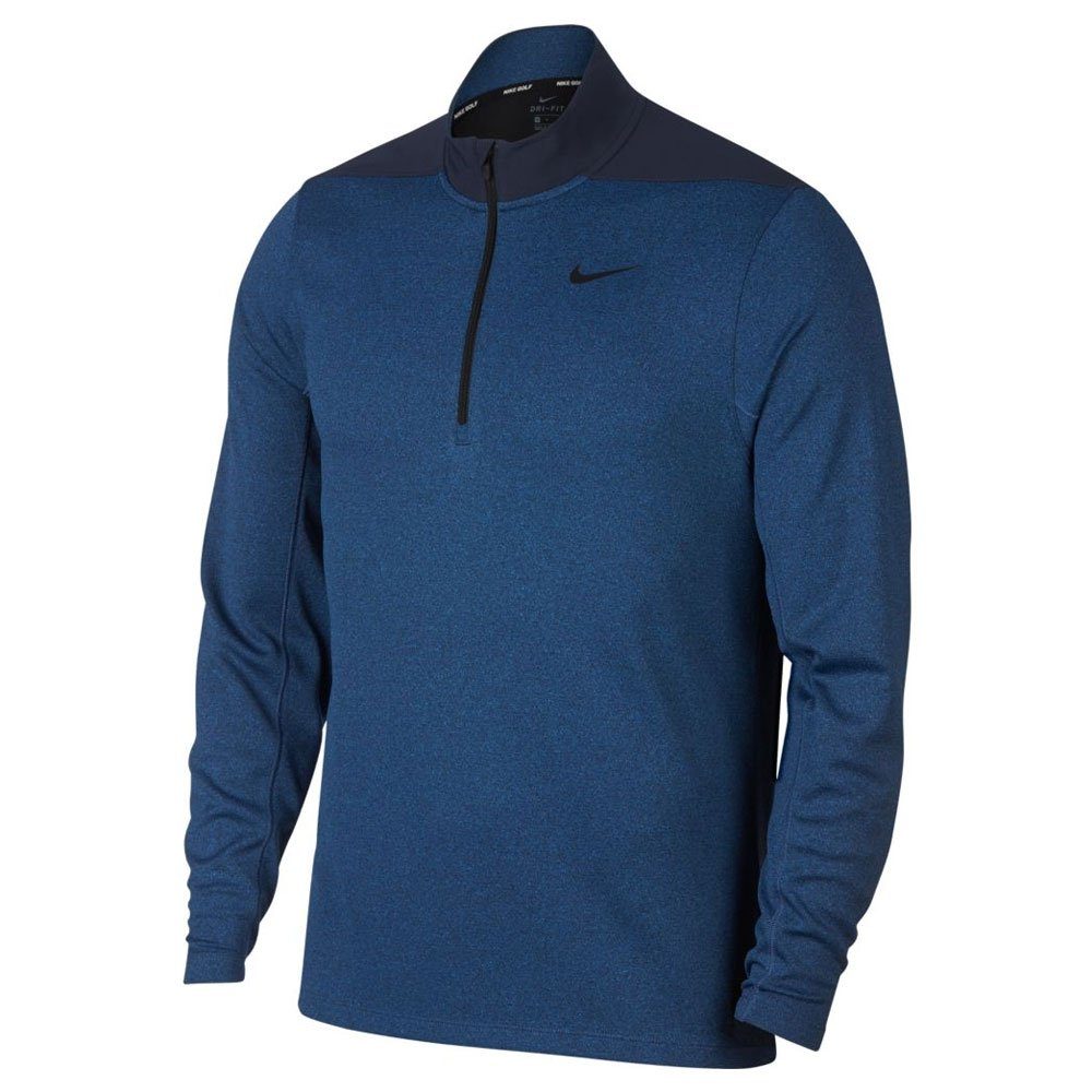 NIKE Dry Top Half Zip Core Golf Pullover 2018 Obsidian/Gym Blue/Black XX-Large by Nike
