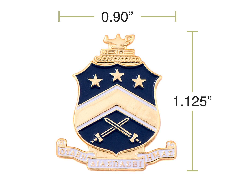 Desert Cactus Pi Kappa Phi Fraternity Crest Lapel Pin Enamel Greek Formal Wear Blazer Jacket Pi Kapp by Desert Cactus (Image #2)