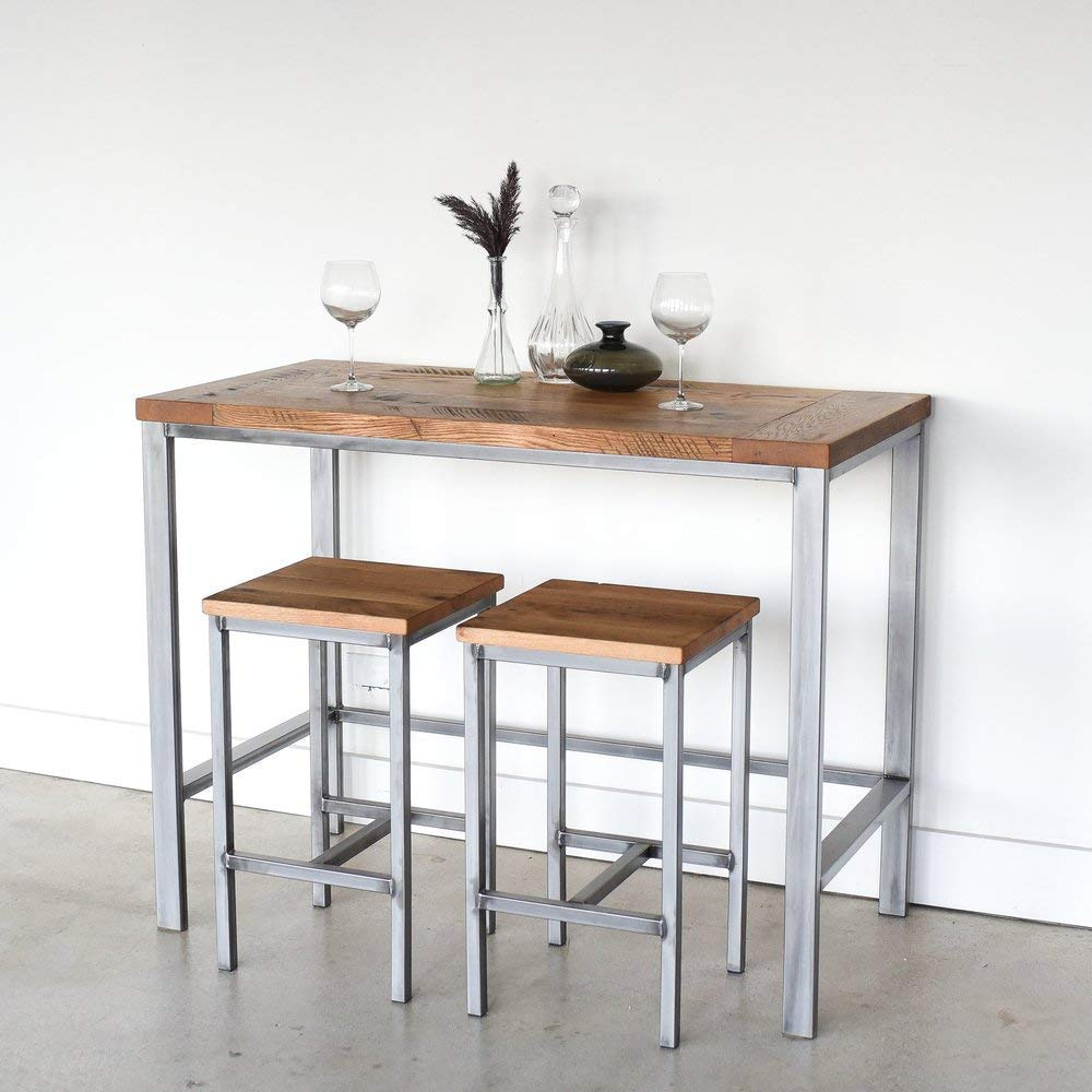Amazon.com: Counter Height Reclaimed Wood Kitchen Table ...