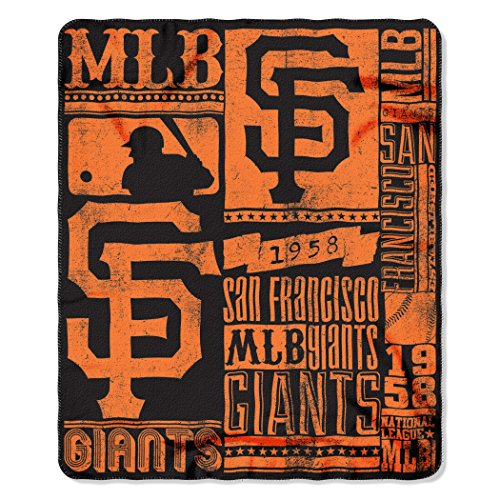 The Northwest Company MLB San Francisco Giants Strength Printed Fleece Throw, 50-inch by 60-inch