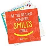 Live Happy Self Stick Notes, 3 inch x 3 inch, 5 Pads/Pack, 50 Sheets/Pad (10 School-Themed Encouraging Messages on Sticky Notes)