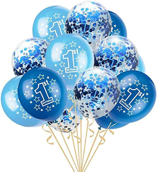 Girl/'s Boy/'s 1st 2nd Birthday Wedding Party Pearlised Latex Printed Balloons UK