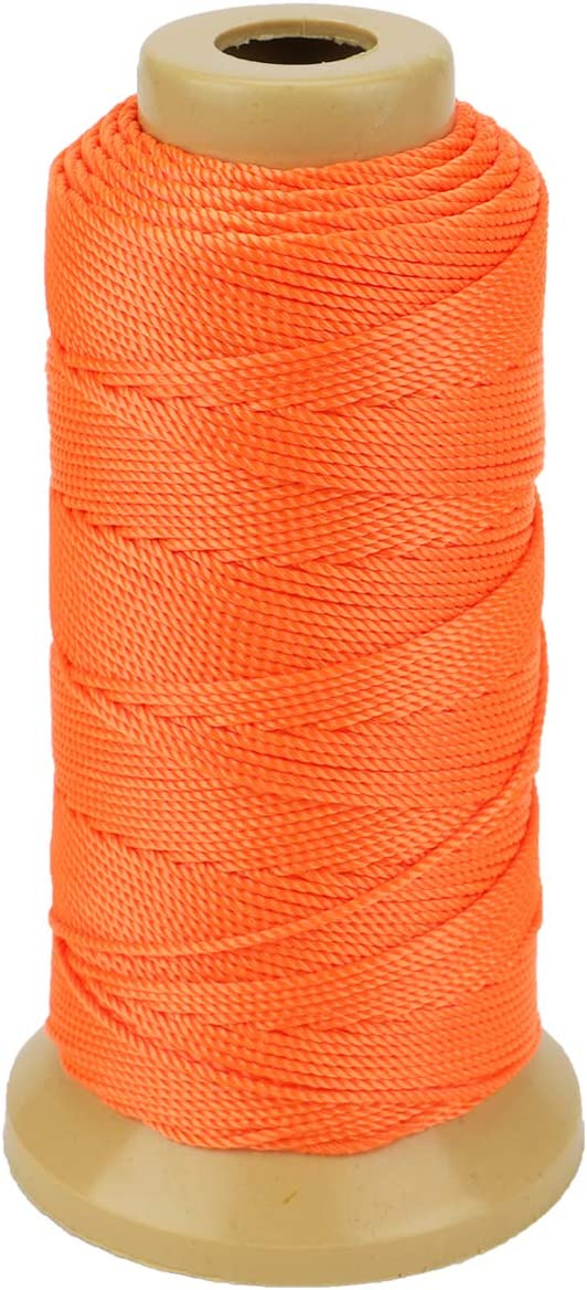 Twisted Nylon Line Twine String Cord for Gardening Marking DIY Projects Crafting Masonry White, 1mm-656 feet
