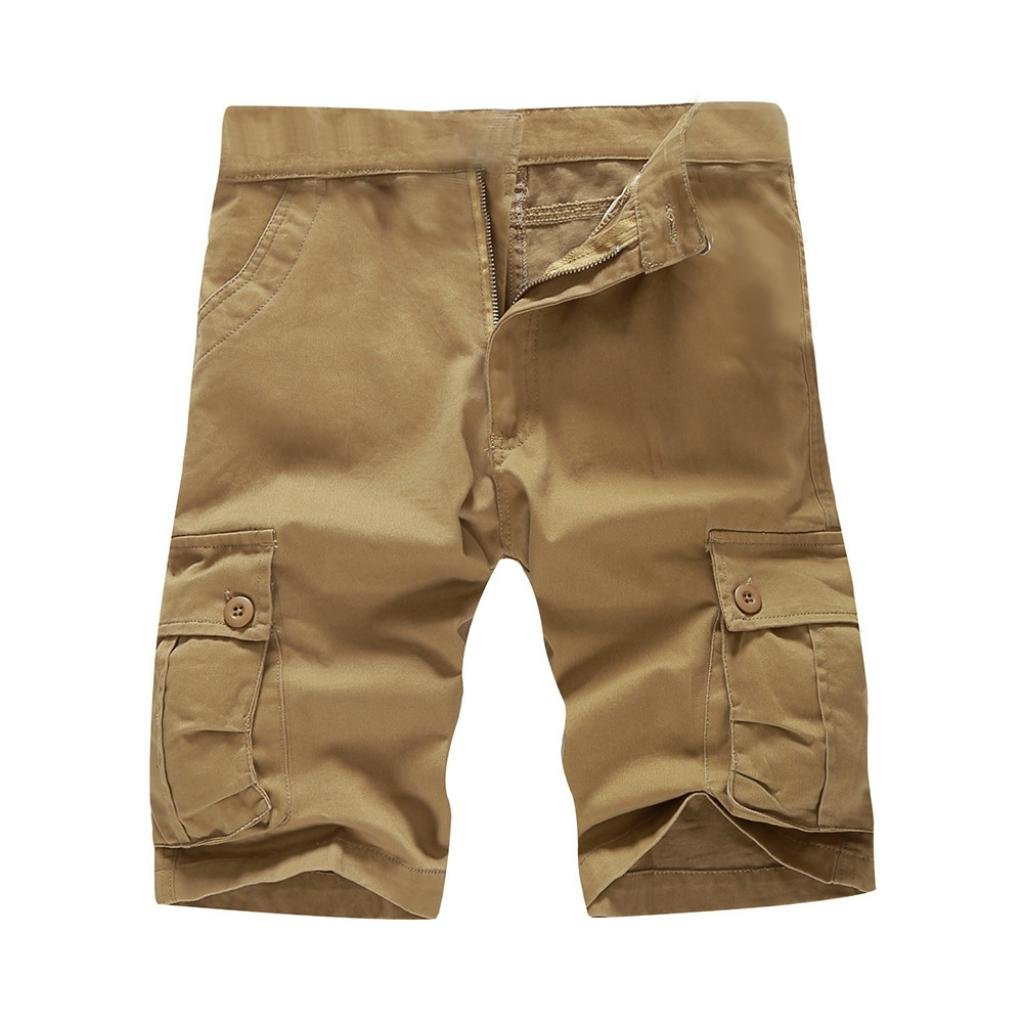 Mikkar Mens Shorts Pants Casual Pocket Beach Work Short Trouser Fashion Clearance by Mikkar