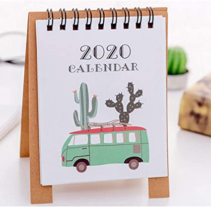 Todidaf 2020 2021 Calendrier de bureau, mignon dessin animé, mini