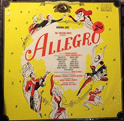 Allegro by Rodgers and Hammerstein. Original Cast Recording. Vinyl LP