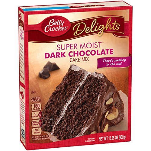 Cake Dark Chocolate (General Mills Betty Crocker Dark Chocolate Cake, 15.25 Ounce)