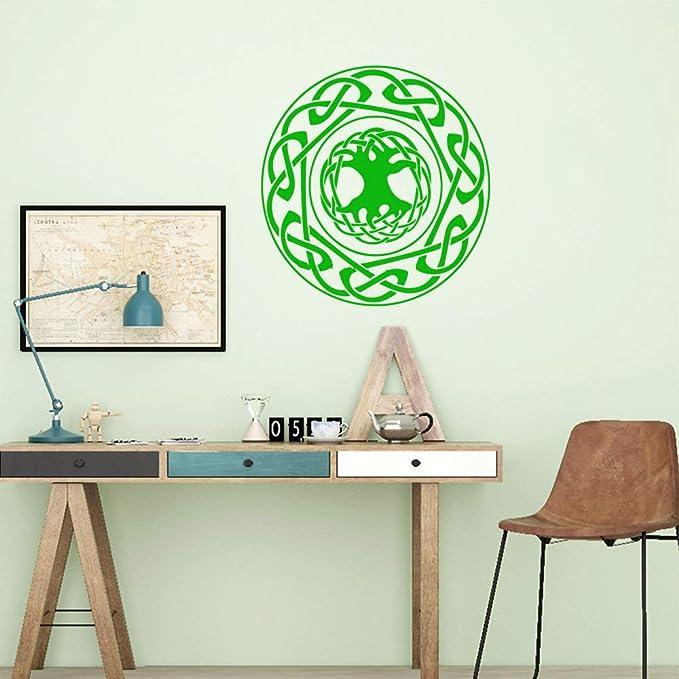 Modeganqingg Etiqueta de la Pared Personalidad Creativa Sala de Estar Empresa Oficina de la Escuela Arte Decorativo Mural Verde L 43cm X 45cm: Amazon.es: Hogar