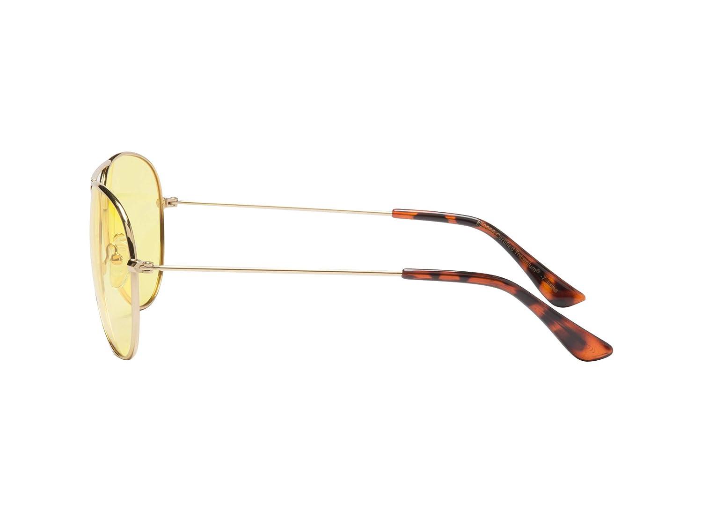 d0c0d72429d Amazon.com  Eagle Eyes Classic Aviator Night-Lite - Night Driving Glasses   Sports   Outdoors