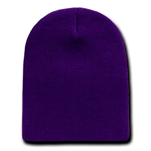 30981aaac18 Image Unavailable. Image not available for. Color  Dark Purple Knit Beanie  ...